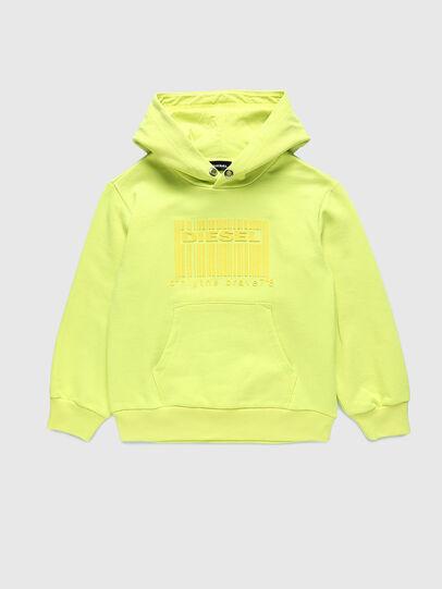 Diesel - SGIRKHOODCODE OVER, Green Fluo - Sweaters - Image 1