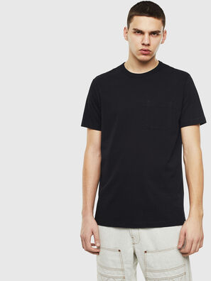 T-RABEN-POCKET, Black - T-Shirts