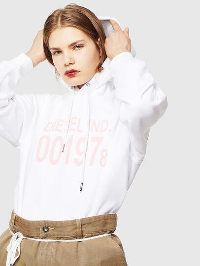 Diesel - F-ANG-HOOD-J1, White - Sweaters - Image 4