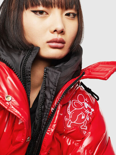 Diesel - CL-W-ALLA-LITM, Red - Winter Jackets - Image 3