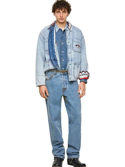 Diesel - DxD-SHIRT, Medium blue - Denim Shirts - Image 5