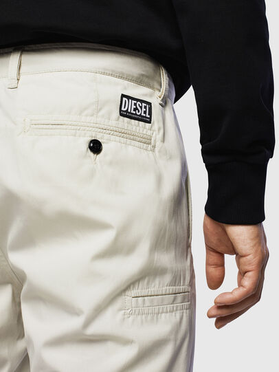 Diesel - P-MATTHEW, White - Shorts - Image 3