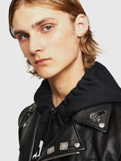 Diesel - L-PERF, Black - Leather jackets - Image 3