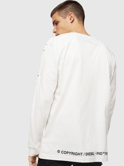 Diesel - T-JUST-LS-BX3, White - T-Shirts - Image 2