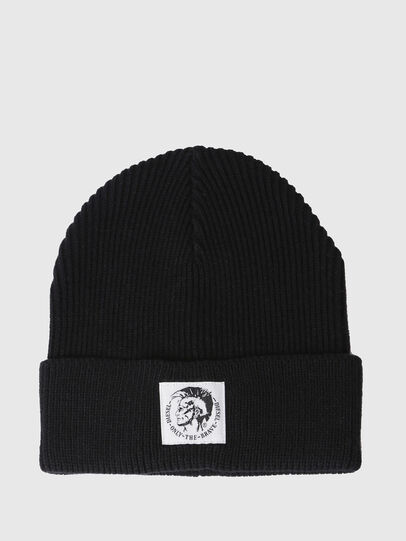 Diesel - K-CODER, Black - Knit caps - Image 1