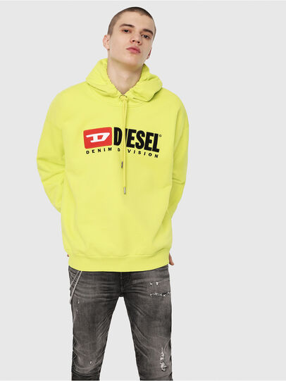 Diesel - S-DIVISION, Yellow Fluo - Sweaters - Image 1