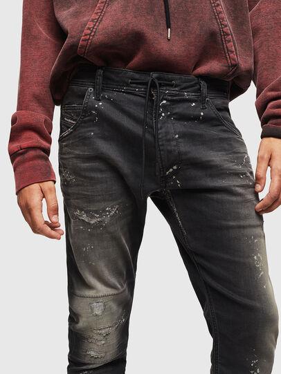 Diesel - Krooley JoggJeans 084AE, Black/Dark grey - Jeans - Image 3