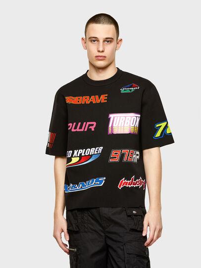 Diesel - K-JOHN, Black - Knitwear - Image 1