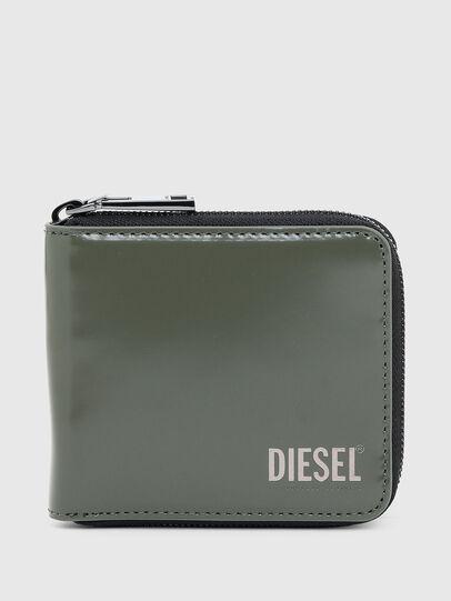 Diesel - HIRESH XS ZIPPI, Military Green - Zip-Round Wallets - Image 1