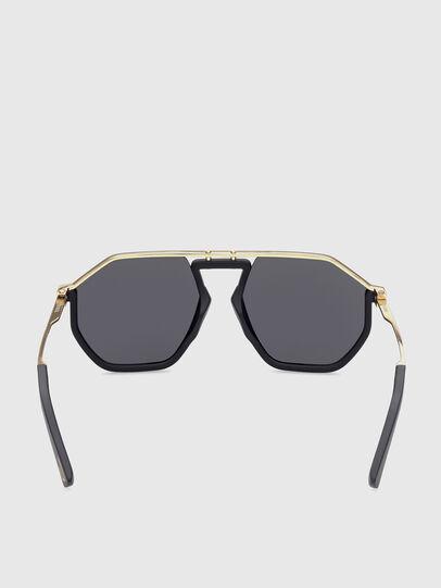 Diesel - DL0346, Black/Gold - Sunglasses - Image 4