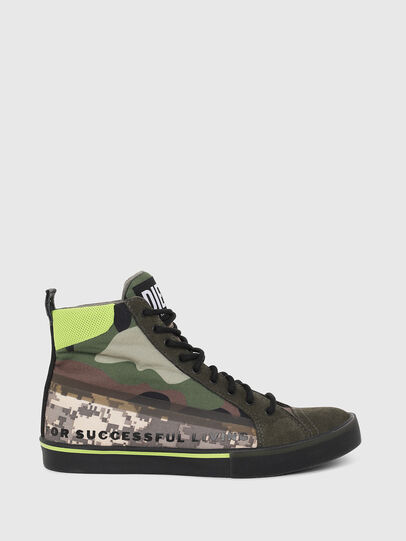 Diesel - S-DVELOWS MID, Green Camouflage - Sneakers - Image 1