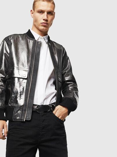 Diesel - L-STEWARD-FOIL,  - Leather jackets - Image 4