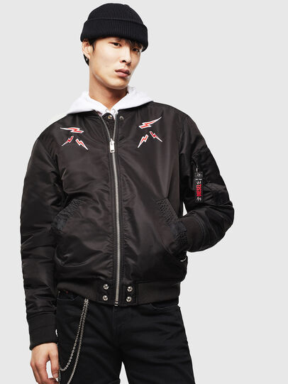 Diesel - CL-J-ROSS-REV-BIGM, Black - Winter Jackets - Image 1