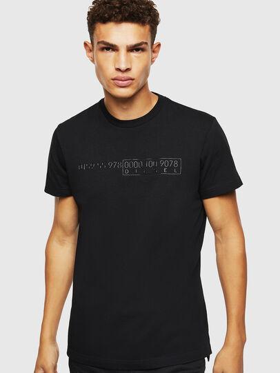 Diesel - T-DIEGO-SLITS-J6, Black - T-Shirts - Image 1