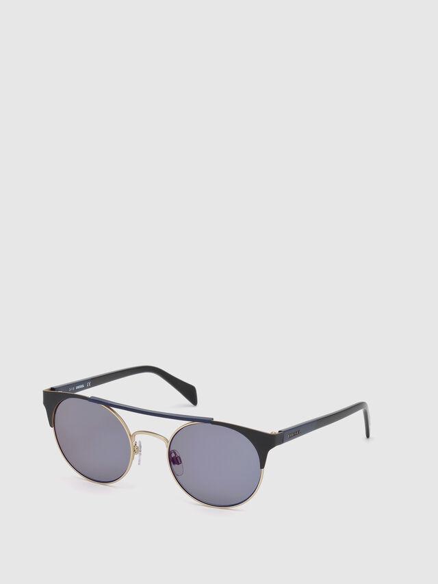 Diesel - DL0218, Black/Blue - Eyewear - Image 4