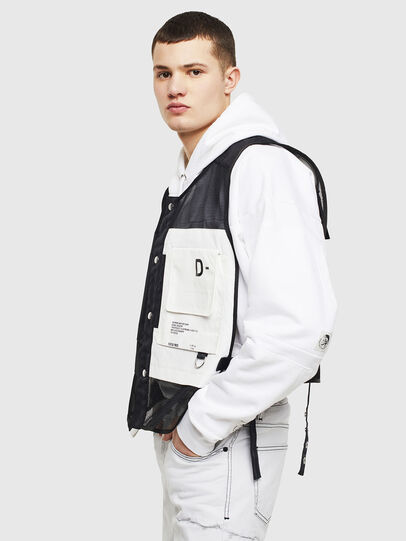 Diesel - J-FISHMESH, Black/White - Jackets - Image 5
