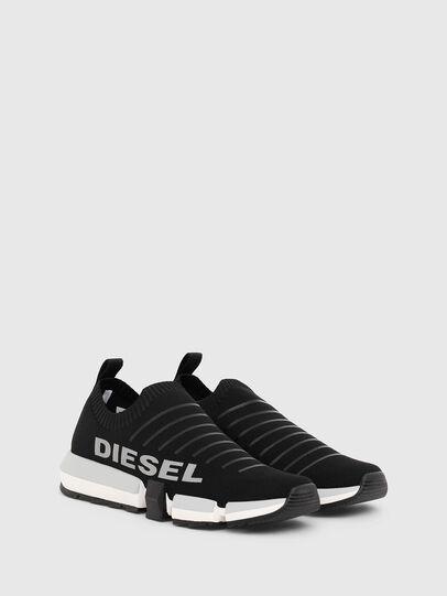 Diesel - H-PADOLA LOW SOCK, Black - Sneakers - Image 2