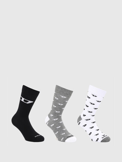 Diesel - SKM-RAY-THREEPACK, Grey/White - Socks - Image 1