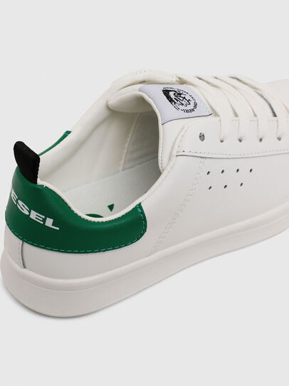 Diesel - SN LOW LACE 11 FULL, White/Green - Footwear - Image 4