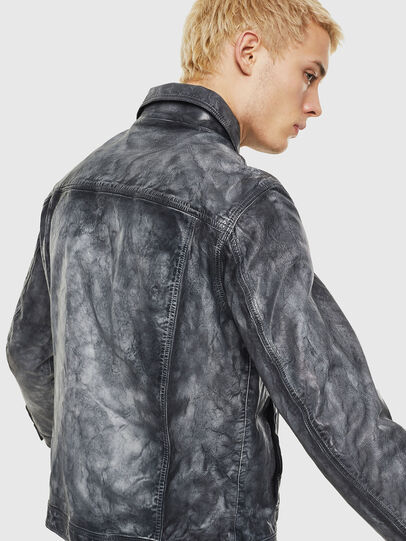 Diesel - L-NHILL, Black - Leather jackets - Image 2