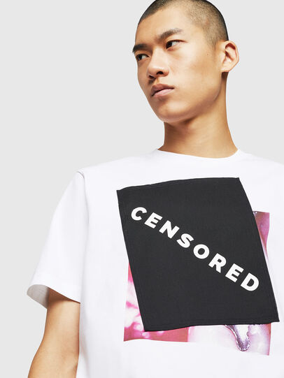 Diesel - T-JUST-BX1, White - T-Shirts - Image 3