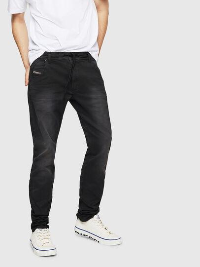 Diesel - Krooley Long JoggJeans 0670M, Black - Jeans - Image 1