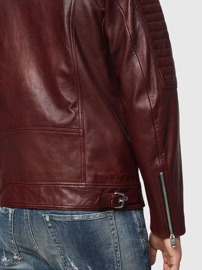 Diesel - L-SHIRO, Bordeaux - Leather jackets - Image 5