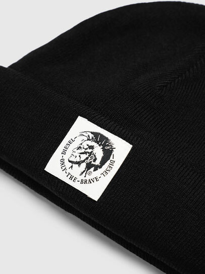 Diesel - K-XAU, Black - Knit caps - Image 3