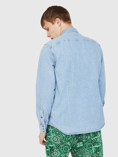 Diesel - D-LEO, Light Blue - Denim Shirts - Image 2