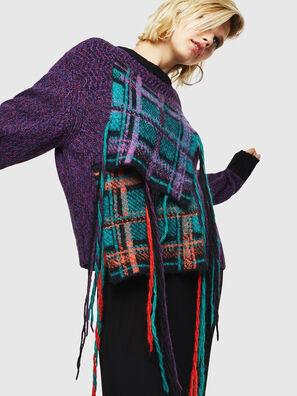 M-TARTANN, Violet - Knitwear