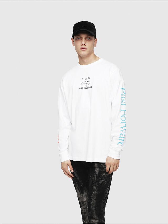 Diesel - T-JUST-LS-YB, White - T-Shirts - Image 5