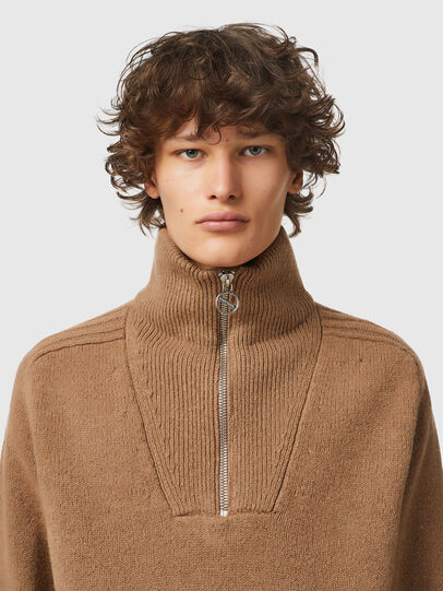 Diesel - K-FREMONT, Light Brown - Knitwear - Image 3