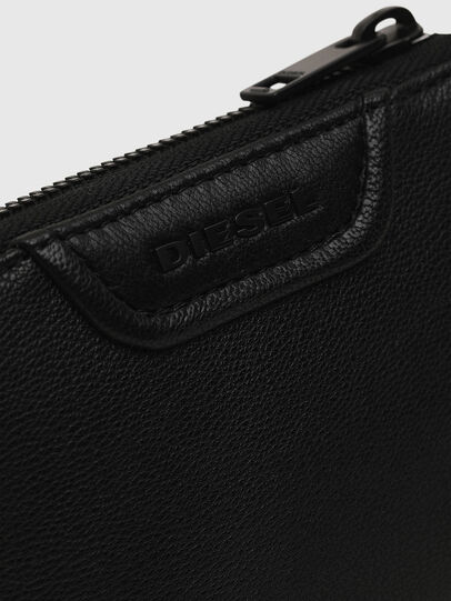 Diesel - L-12 ZIP, Black - Zip-Round Wallets - Image 3