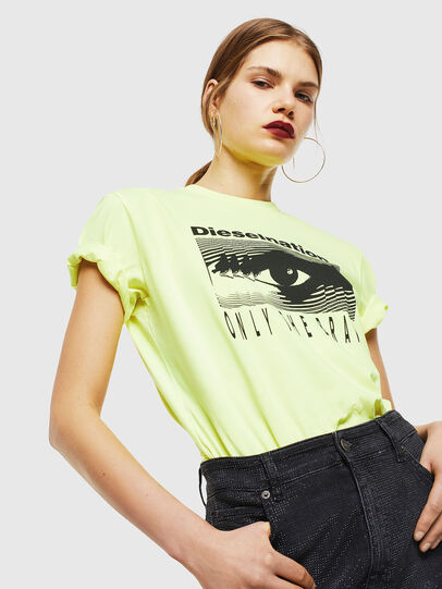 Diesel - T-DIEGO-J4, Yellow Fluo - T-Shirts - Image 6