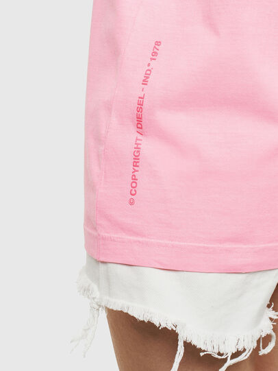 Diesel - T-JUST-NEON, Pink - T-Shirts - Image 9