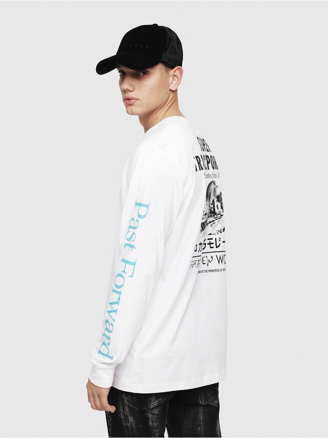Diesel - T-JUST-LS-YB, White - T-Shirts - Image 4
