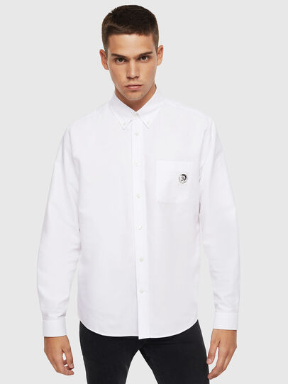 Diesel - S-JAMES, White - Shirts - Image 1