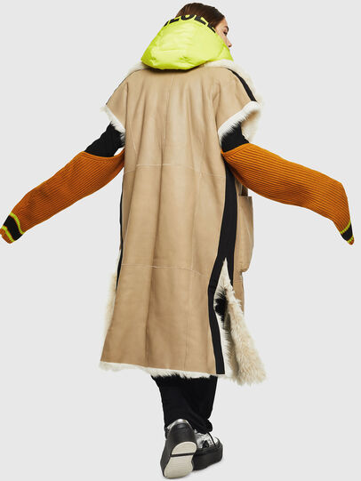 Diesel - L-IRTA, Beige - Leather jackets - Image 2
