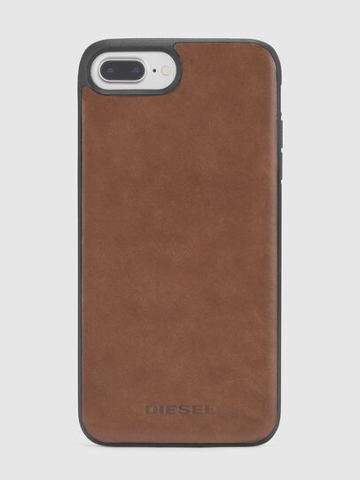 Diesel - BROWN LEATHER IPHONE X CASE,  - Cases - Image 2