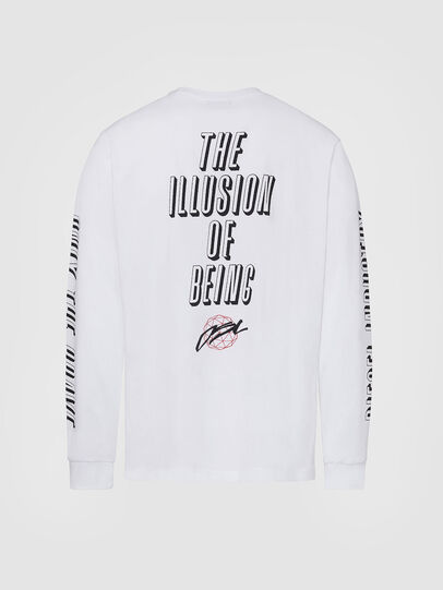 Diesel - T-JUST-LS-X92, White - T-Shirts - Image 2