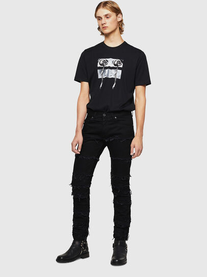 Diesel - TY-X1, Black - T-Shirts - Image 5