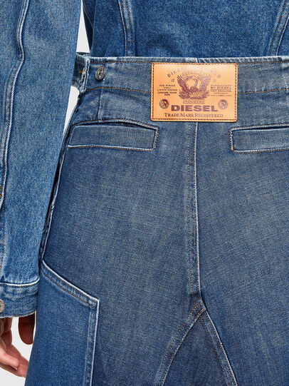 Diesel - DE-PEN, Medium blue - Skirts - Image 3