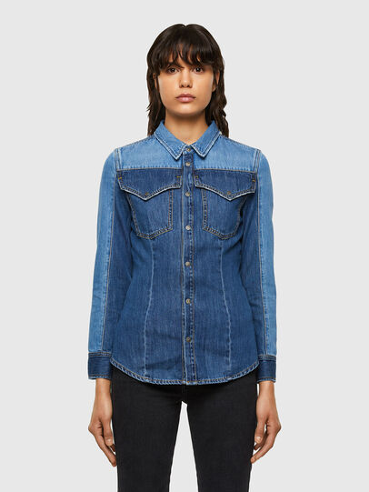 Diesel - DE-MISTY, Medium blue - Denim Shirts - Image 1