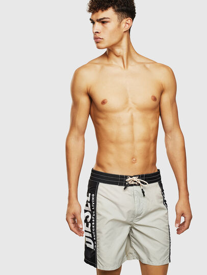 Diesel - BMBX-WAVE-LONG-F, Gray/Black - Boardshorts - Image 1