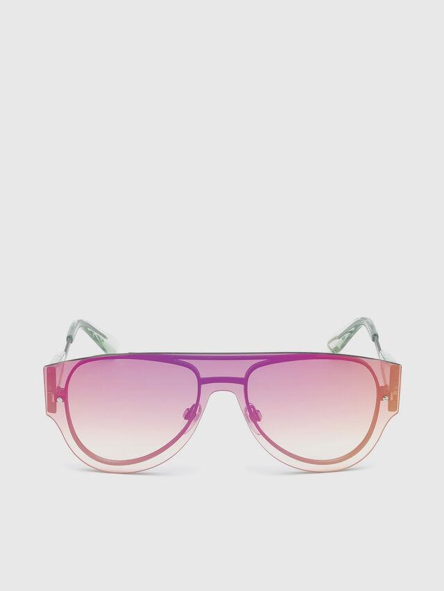 Diesel - DL0273, Pink/White - Sunglasses - Image 1