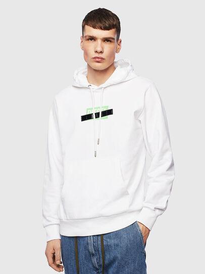 Diesel - S-GIRK-HOOD-S1, White - Sweaters - Image 1