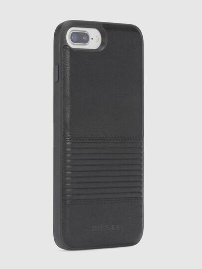 Diesel - BLACK LINED LEATHER IPHONE 8 PLUS/7 PLUS/6s PLUS/6 PLUS CASE, Black - Cases - Image 5
