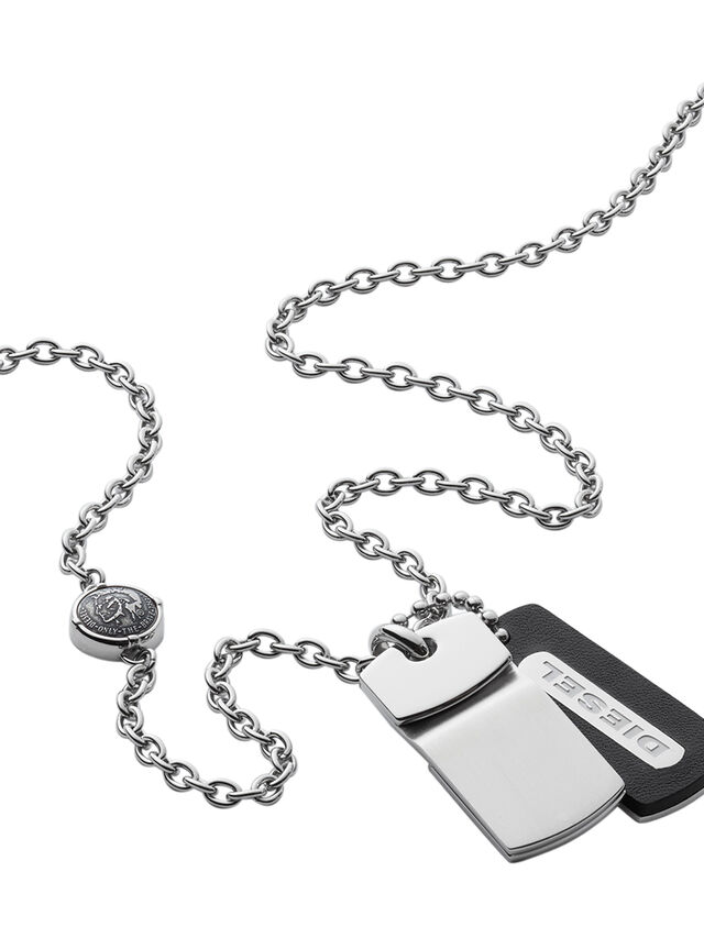 Diesel NECKLACE DX0973, Silver - Necklaces - Image 2