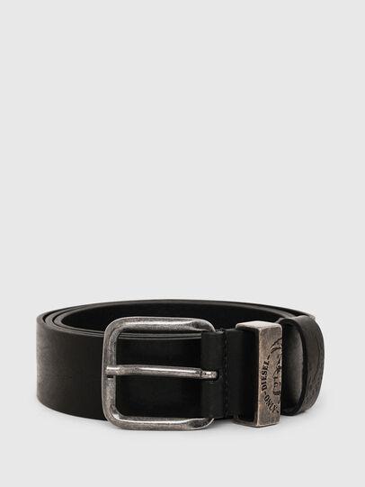 Diesel - B-FRAG, Black Leather - Belts - Image 1