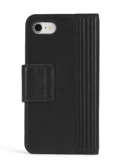Diesel - BLACK LINED LEATHER IPHONE 8 PLUS/7 PLUS FOLIO,  - Flip covers - Image 5